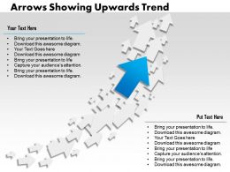 0314 Business Ppt Diagram Arrows Showing Upwards Trend Powerpoint Template