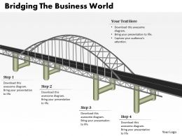 0314 Business Ppt Diagram Bridging The Business World Powerpoint Template