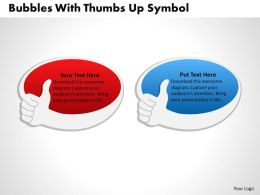 0314 Business Ppt Diagram Bubbles With Thumbs Up Symbol Powerpoint Template
