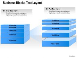 0314 Business Ppt Diagram Business Blocks Text Layout Powerpoint Template