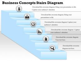 0314 Business Ppt Diagram Business Concepts Stairs Diagram Powerpoint Template