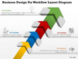 0314 Business Ppt Diagram Business Design For Workflow Layout Diagram Powerpoint Template