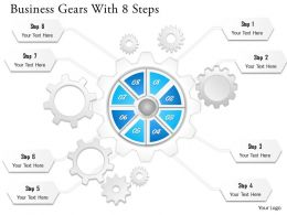0314 Business Ppt Diagram Business Gears With 8 Steps Powerpoint Template