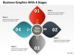 0314 Business Ppt Diagram Business Graphics With 4 Stages Powerpoint Template