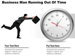 0314 Business Ppt Diagram Business Man Running Out Of Time Powerpoint Template