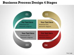 0314 Business Ppt Diagram Business Process Design 4 Stages Powerpoint Template