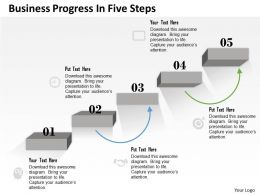 0314 Business Ppt Diagram Business Progress In Five Steps Powerpoint Template
