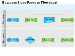 0314 Business Ppt Diagram Business Steps Process Flowchart Powerpoint Template