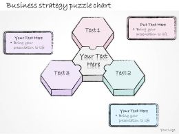0314 Business Ppt Diagram Business Strategy Puzzle Chart Powerpoint Templates