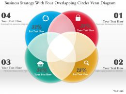 0314 Business Ppt Diagram Business Strategy With Four Overlapping Circles Venn Diagram Powerpoint Template