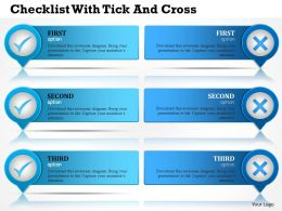 0314 Business Ppt Diagram Checklist With Tick And Cross Powerpoint Template