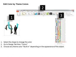 0314 Business Ppt Diagram Choose Between Two Options Powerpoint Template