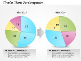 0314 Business Ppt Diagram Circular Charts For Comparison Powerpoint Template