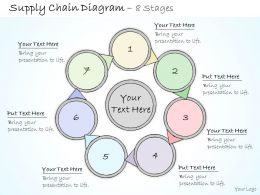 0314 Business Ppt diagram Circular Loop Work Flow Diagram Powerpoint Template