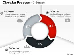 0314 Business Ppt Diagram Circular Process With 3 Stages Powerpoint Template