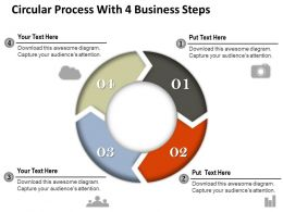 0314 Business Ppt Diagram Circular Process With 4 Business Steps Powerpoint Template