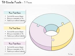 0314 Business Ppt Diagram Circular Puzzle Flow Diagram Powerpoint Template