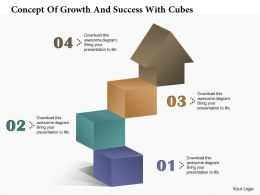 0314 Business Ppt Diagram Concept Of Growth And Success With Cubes Powerpoint Template