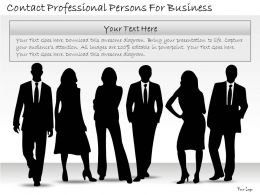 0314 Business Ppt Diagram Contact Professional Persons For Business Powerpoint Templates