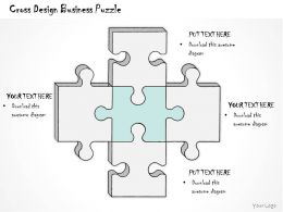 0314 Business Ppt Diagram Cross Design Business Puzzle Powerpoint Templates