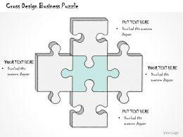 0314 Business Ppt Diagram Cross Design Business Puzzle Powerpoint Templates