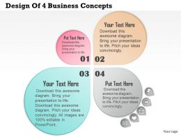 0314 Business Ppt Diagram Design Of 4 Business Concepts Powerpoint Template
