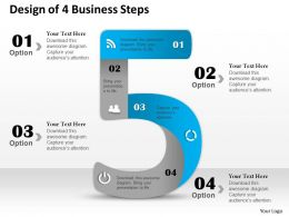 0314 Business Ppt Diagram Design of 4 Business Steps Powerpoint Template