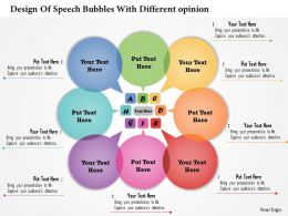 0314 Business Ppt Diagram Design Of Speech Bubbles With Different Opinion Powerpoint Template