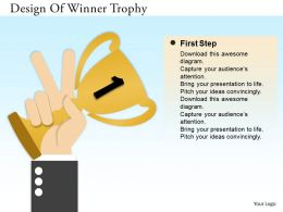0314 Business Ppt Diagram Design Of Winner Trophy Powerpoint Template
