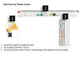 0314 Business Ppt Diagram Design Of Winner Trophy Powerpoint Template