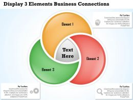 0314 Business Ppt Diagram Display 3 Elements Business Connections Powerpoint Template