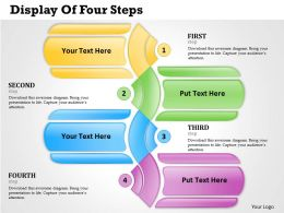 0314 Business Ppt Diagram Display Of Four Steps Powerpoint Template