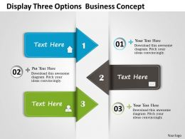 0314 Business Ppt Diagram Display Three Options Business Concept Powerpoint Template
