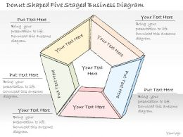 0314 Business Ppt Diagram Donut Shaped Five Staged Business Diagram Powerpoint Templates