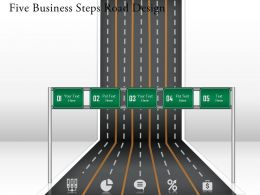 0314 Business Ppt Diagram Five Business Steps Road Design Powerpoint Template