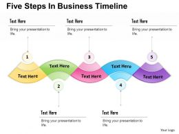 0314 Business Ppt Diagram Five Steps In Business Timeline Powerpoint Template