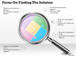 0314 Business Ppt Diagram Focus On Finding The Solution Powerpoint Template