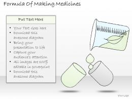 0314 Business Ppt Diagram Formula Of Making Medicines Powerpoint Template