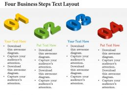 0314 Business Ppt Diagram Four Business Steps Text Layout Powerpoint Template