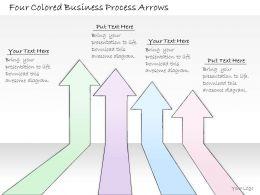 0314 Business Ppt Diagram Four Colored Business Process Arrows Powerpoint Templates