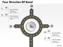 0314 Business Ppt Diagram Four Direction Of Road Powerpoint Template