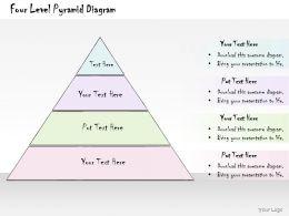 0314 Business Ppt Diagram Four Level Pyramid Diagram Powerpoint Templates