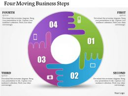 0314 Business Ppt Diagram Four Moving Business Steps Powerpoint Template