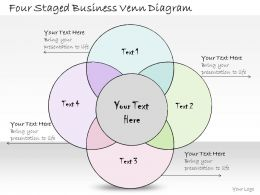 0314 Business Ppt Diagram Four Staged Business Venn Diagram Powerpoint Templates