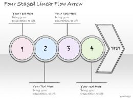 0314 Business Ppt Diagram Four Staged Linear Flow Arrow Powerpoint Templates