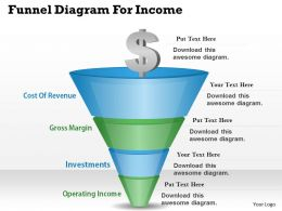 0314 Business Ppt Diagram Funnel Diagram For Income Powerpoint Template