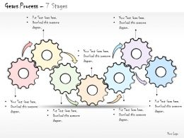 0314 Business Ppt Diagram Gear Based Twist And Turns Powerpoint Template