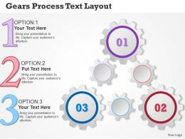 0314 Business Ppt Diagram Gears Process Text Layout Powerpoint Template