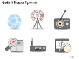 0314 Business Ppt Diagram Graphic Of Broadcast Equipments Powerpoint Templates