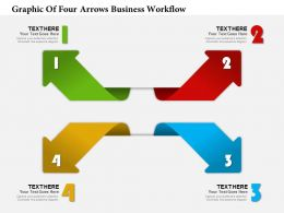 0314 Business Ppt Diagram Graphic Of Four Arrows Business Workflow Powerpoint Template